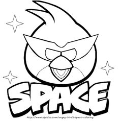 Kleurplaten Angry Birds Space.Angry Birds Coloring Pages Red Bird