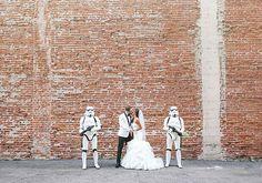Meet Jennifer and Joshua. They had the classiest Star Wars wedding ever!