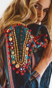 Boho Style - embellished jackets for spring 2017 - Hippie Chic, Hippie Style, Hippie Elegante, Boho Gypsy, Bohemian Mode, Bohemian Style, Boho Chic, Moda Boho, Fashion Details