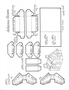 Roof and accessories for the Arizona House pattern. Roof and accessories for the Arizona House patte Diy Christmas Village Houses, Putz Houses, Christmas Villages, Christmas Diy, Mini Houses, Miniature Houses, Christmas Glitter, Holiday Crafts, Holiday Ideas