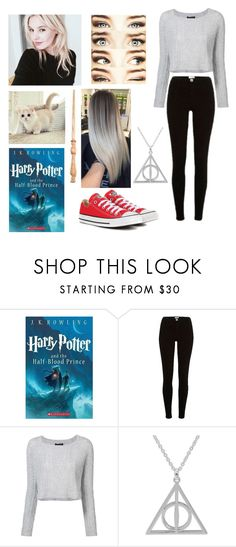 """""""Avrin Rasa Macon~Sixth Year"""" by poizell ❤ liked on Polyvore featuring River Island, ThePerfext and Converse"""