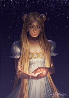 Anime: Sailor Moon Character: Princess Serenity By: Charlie Bowater Sailor Moon Crystal, Sailor Moon S, Sailor Jupiter, Sailor Venus, Sailor Mars, Sailor Scouts, Charlie Bowater, Princesa Serena, Moon Princess