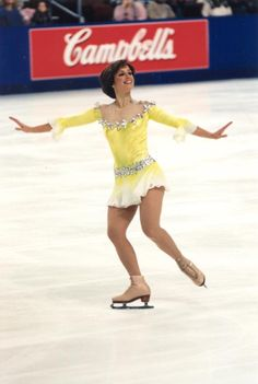 Dorothy Hamill -Yellow Figure Skating / Ice Skating dress inspiration for Sk8 Gr8 Designs.