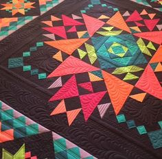 Amish with a Twist series III quilt by Nancy Rink, featured at Auribuzz                                                                                                                                                                                 More