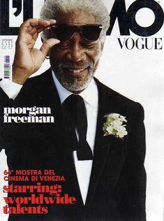 Morgan Freeman for L'uomo Vogue September 2009 Cover by Francesco Carrozzini