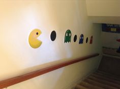 Video game party decorations.  Pac-man.