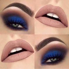 Maquiagens que combinam com vestido azul royal