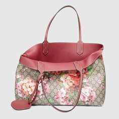 """Reversible Gucci blooms leather tote (15""""W x 11""""H x 5""""D) $ 1,250"""