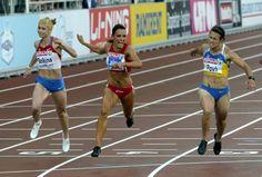Day 2: Bulgaria's Ivet Lalova won women's 100 m gold at the European Athletics Championships Helsinki 2012 in Helsinki on Thursday, 28th June, 2012. Left Russian Olga Belkina (5th), right second-placed Ukraine's Olesya Povh.