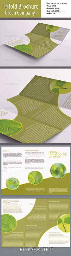 Trifold Brochure for Green Company