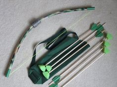 Toy archery bow and 6 arrows set fun activity by PlaySafeToys