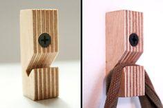 Berken multiplex wandhaken - set van drie - no 1 More: