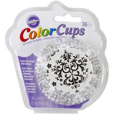 Wilton 4152352 36 Count Baking Cup Standard Damask BlackWhite *** Want additional info? Click on the image.