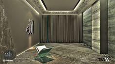 Axis İstanbul AVM projemizde yer alan mescit tasarımımız. Farklı materyallerin sağladığı çok katmanlılık, net bir tasarım çizgisi ile dengelenmiştir. Bu tasarım konseptinin dine atıfta bulunduğu düşünülmektedir. The prayer room design in our Axis Istanbul Shopping Center project. The multi-layeredness provided by the different materials has been balanced by a clear design line. This concept of design is meant to be a reference to religion.