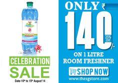 #room #freshner @only ₹140/- for 1 litre independence day offers