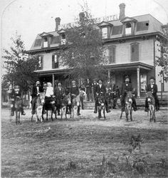The Colorado Springs Hotel on Pikes Peak and Cascade in 1875.