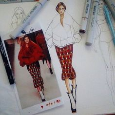 In process  #everydayfashion #fashionillustration #casual #style #fashionsketch #illustrator #paint #watercolor #girl #streetfashion  #fashionart #mystyle #justforfun #followme #art  #illustration #draw #artwork #fashion by arasa.aree