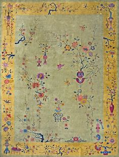"#177 Chinese Art Deco carpet  8'10"" x 11'8""  circa 1920"