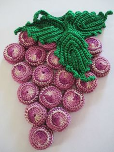 Vintage 1960s Grape Hot Pad - Crocheted over old bottle caps - Purple kitchen--- I  have one my grandma made, but sure would not mind a couple more! -- Linda