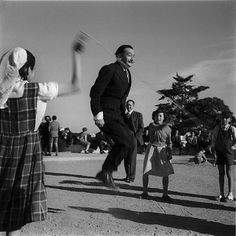Salvador Dali skipping rope, c. 1950s (via)