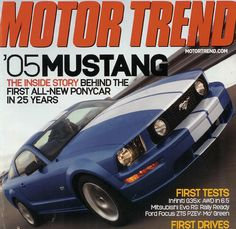 """""""World Debut: 2005 Ford Mustang"""", Motor Trend, February 2004"""