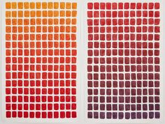 """""""Where Does Red Begin and Where Does it End"""" by artist Spencer Finch is an intriguing piece of watercolour art I happened to come across. It is """"a study of the margins of the color red documenting its gradual shift between orange and violet."""" Such an intriguing concept of wondering where the boundaries of colour are. Many times, one person's 'red' is another person's 'orange'. When you stare at this piece, where does the red begin and end for you?"""
