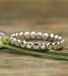 Amelia Silver Dots Ring