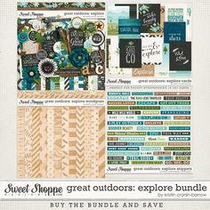 Great Outdoors: Explore Bundle by Kristin Cronin-Barrow   digital scrapbook supplies from Sweet Shoppe Designs