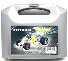 Formula Racing Car Construction 127 Peace Metal Building Toy Set in Plastic Case #Unbranded