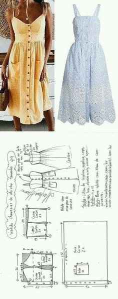 New sewing dress patterns projects ideas Sewing Dress, Diy Dress, Sewing Clothes, Sewing Diy, Sewing Crafts, Barbie Clothes, Fabric Sewing, Baby Sewing, Diy Clothing