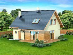Zdjęcie projektu Armanda Mała WOK1055 Malaga, Home Fashion, Solar Panels, House Plans, Home And Garden, Outdoor Structures, Cabin, House Styles, Outdoor Decor