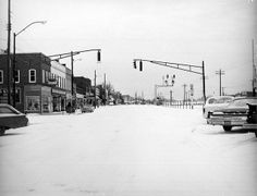 Downtown Easley after a Snow by Pickens County Library System, via Flickr
