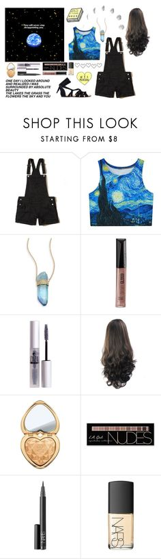 """starrynight~"" by panda-brie ❤ liked on Polyvore featuring Hollister Co., Jacquie Aiche, Rimmel, ZuZu Luxe, Too Faced Cosmetics, Charlotte Russe and NARS Cosmetics"