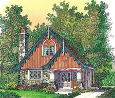 Rustic 2 Bed Dacha House Plan - 43076PF | 2nd Floor Master Suite, Cottage, Vacation | Architectural Designs