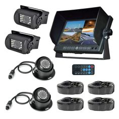 Pyle Black DVR Multi-camera and Monitor System | Overstock.com Shopping - The Best Deals on Car A/V Accessories
