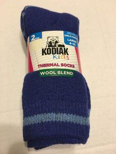 Socks Shoes Size Large 4 10 Thermal Wool Blend Royal   eBay