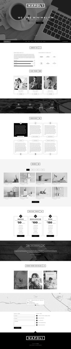 Napoli - Creative OnePage PSD Template #psd #business #onepage • Download ➝ https://themeforest.net/item/napoli-creative-onepage-psd-template/18685145?ref=pxcr