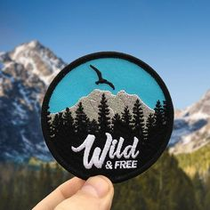 Iron-on patch / Wild & Free