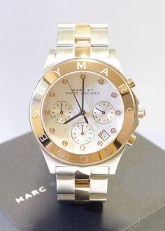 NEW Marc by Marc Jacobs BLADE Ladies Watch Chronograph MBM3178 Gold Two tone NIB #MarcbymarcJacobs
