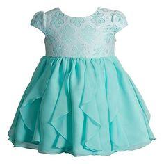 Baby Girl Youngland Ruffle Chiffon Dress