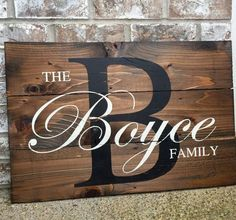 Last Name Wood Sign Wedding Signs Wood Signs Gift by RedRoanSigns
