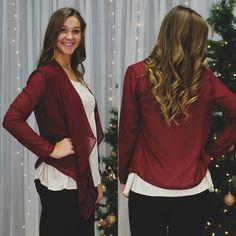 Sheer Chiffon Open Front Long Sleeve Cardigan – UOIOnline.com: Women's Clothing Boutique