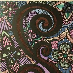 ColorIt Colorful Flowers Volume 1 Colorist: Hollie Cameron #adultcoloring #coloringforadults #adultcoloringpages #flowers