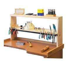 Eurotool Shelfmate Bench Top Tool Holder, Keeps Everything Within Hand's Reach - Bench Tools - Jewelry Making Tools Woodworking Workbench, Woodworking Crafts, Woodworking Machinery, Woodworking Classes, Woodworking Videos, Woodworking Furniture, Youtube Woodworking, Workbench Plans, Woodworking Equipment