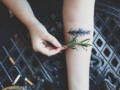 Rosemary for Rosemary. My piano teacher, my gardening partner, and my grandmother.  Done by the wonderful Magic Marge at Lady Luck Tattoo in PHX, AZ. madd-hatta.tumblr.com