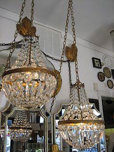 Antique light fixtures--- still cool today