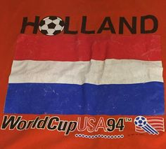 Vintage Holland 1994 World Cup Futbol Soccer X-Large Tee T-Shirt XL N1 #Logo7 #Holland
