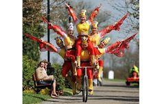 Acrobats bike