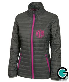 CUSTOM Monogram Quilted Jacket -- Sorority Letters or Initials! by GoneGreek on Etsy