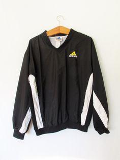 Vintage 1990s Adidas Trefoil Pullover Jacket by FreshtoDeathVintage on Etsy